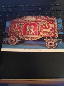 Vintage Postcard: Ringling Circus Museum Sarasota- Lion and Gladiator Bandwagon