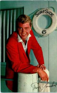 TROY DONAHUE   Star of SURFSIDE 6, ETC    1961  Movie TV  Postcard