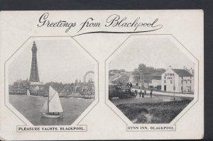 Lancashire Postcard - Greetings From Blackpool  DC1150