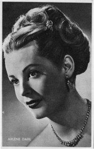 Arlene Dahl Vintage Rare Kwatta Film Movie Postcard Size Photo