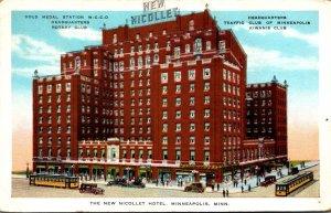 Minnesota Minneapolis Trolleys At New Nicollet Hotel Headquarters Rotary Club...