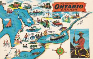 Canada Map Of The Province Ontario