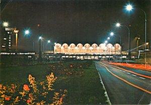 Postcard Romania Bucuresti aeroportul international otopeni vedere nocturna