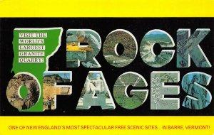 LP42 Barre  Vermont Postcard Rock Ages Granite Quarry