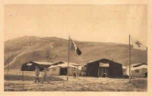La Guerre au Maroc Ambulance de campagne à Dar-Caid Medbah Vintage Postcard