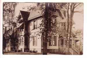 Real Photo, House in Bath Maine,Use 1909, Flag Cancel