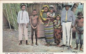 Panama San Blas Indian Family Island Of Carti