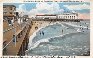 Bathing Beach at Convention Hall in Wildwood-by-the Sea, New Jersey