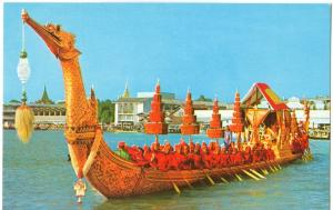 Thailand, The Supannahongse, Thai Royal State Barge, Bangkok, unused Postcard