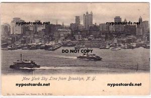 NYC Sky Line from Brooklyn NY