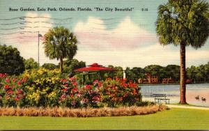 Florida Orlando Rose Garden At Lake Eola 1950