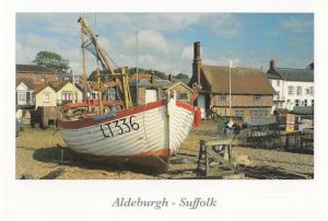 Boats at Aldeburgh Moat Hall Suffolk Postcard