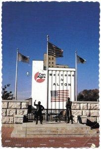 US Illinois, Alton. Lincoln-Douglas Square. Used with postage. Nice