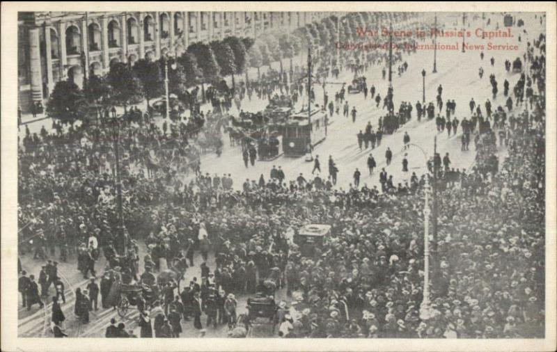 War Scene in Russia's Capital - Moscow c1910 Postcard