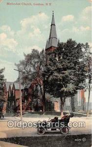 Churches Vintage Postcard Goshen, NY, use Vintage Postcard Methodist Church