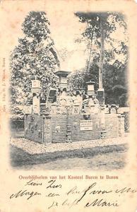 Holland Overblijfselen van het Kasteel Buren te Buren  Overblijfselen van het...