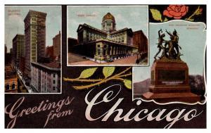 Illinois Chicago , LARGE LETTER