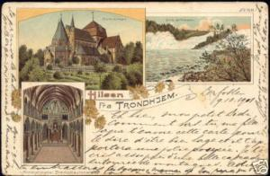 norway norge, TRONDHJEM TRONDHEIM, Multiview 1901 Stamp