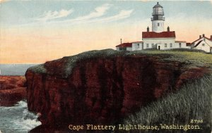 G33/ Cape Flattery Washington Postcard c1910 Lighthouse Building