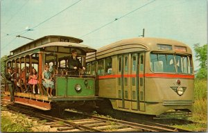 Connecticut CT Branford Trolley Museum East Haven Postcard Old Vintage Card View