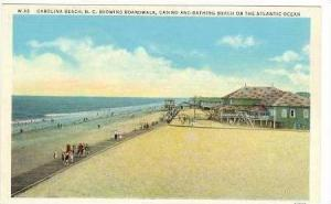 Boardwalk, Casino, & Bathers on Beach,Carolina Beach,NC / North Carolina 1910...