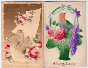 2 - Easter Cards, Heavy Embossed