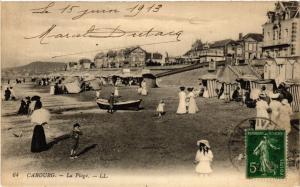 CPA CABOURG - Le Boulevard des Anglais la Plage et le Grand Hotel (515874)