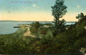 CT - New Haven - Fort Hale Park, Bird's Eye View