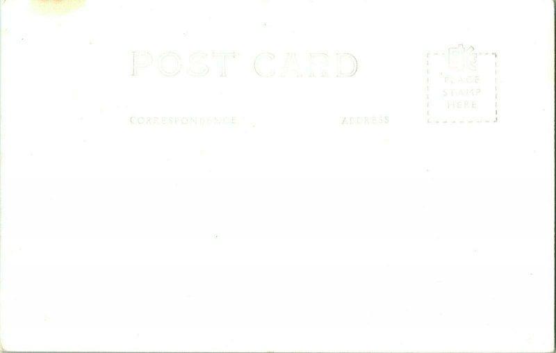 Vtg Postcard RPPC 1940s -Shiawassee County Court House - Corunna Michigan MI