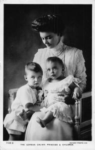 The German crown princess and children royalty postcard
