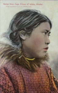 Alaska Cape Prince Of Wales Native Eskimo Girl sk2989