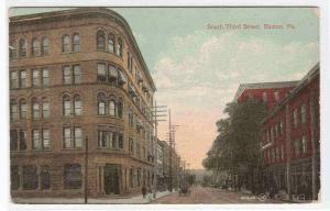 South Third Street Easton Pennsylvania 1910c postcard