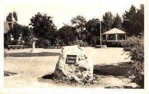 RPPC LYMAN PARK St. Helena, Napa County, California ca 1930s Vintage Postcard