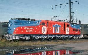 Railroads, Train - Conrail '76 #4800  railroadcards.com
