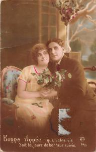Bonne Annee! que votre vie Soit toujours de bonheur suivie couple 1917