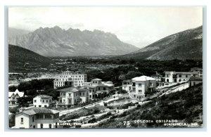 Postcard Colonia Obispado, Monterrey NL Mexico RPPC Y62
