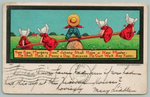Bernhardt Wall Sunbonnet Babies~See Saw Margery Daw~Johnny Can't Work Fast c1906