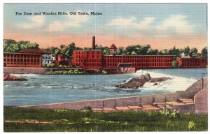Old Town, Maine, The Dam and Woolen Mills