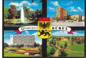 GG13683 Gruess aus Dueren Langemarckplatz Stadtgarten Rathaus Stadthalle