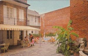 The Chateau Motor Hotel With Pool 1001 Chartres Street New Orleans Louisiana