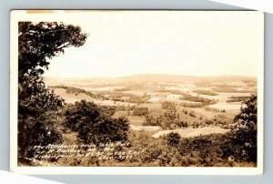 Scenic View Of The Alleghenies From Table Rock, Backbone Maryland RPPC Postcard