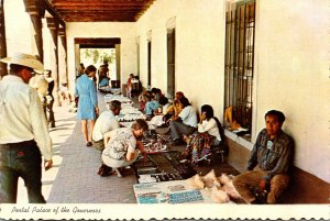Local Indians Offering Arts and Crafts To Tourists Palace Of The Governors Sa...