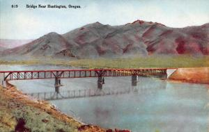 Bridge Near Huntington, Oregon, Early Postcard, unused