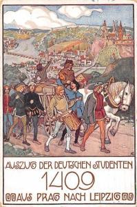Auszug der Deutschen Studenten 1409 aus Prag nach Leipzig 1909