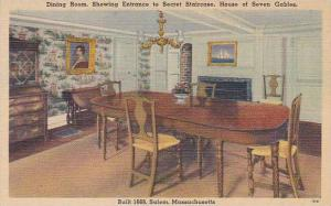 Massachusetts Dining Room Showing Entrance To Secret Staircase House Of Seven...