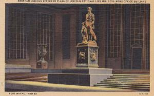 Abraham Lincoln Statue In Plaza Of Lincoln National Life Ins. Co's. Home Offi...