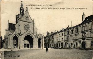 CPA Gray - Eglise Notre-Dame de Gray - Place de la Sous-Prefecture (636457)
