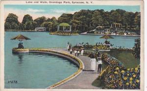 New York Syracuse Lake and Walk In Onondaga Park