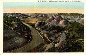 North Dakota U S Highway #10 Through The Badlands Curteich