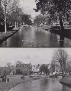 Bourton On The Water 2x Vintage Real Photo Postcard Set